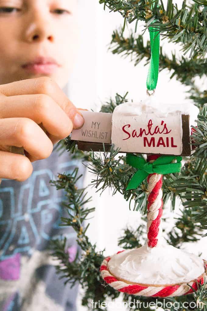 Santa's Mailbox Ornament - Kid