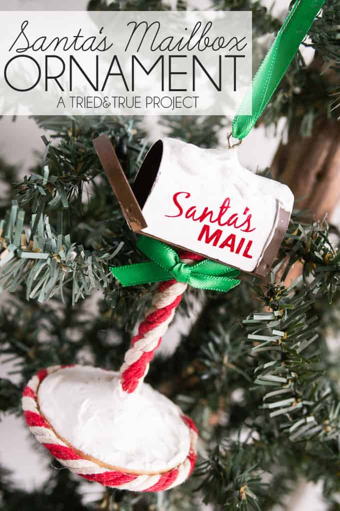 Make this fun Santa's Mailbox Ornament that your kids can actually place their wishlists in!