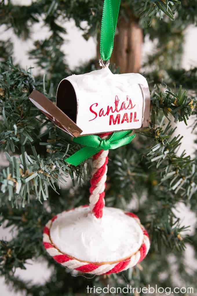 Santa's Mailbox Ornament - Open