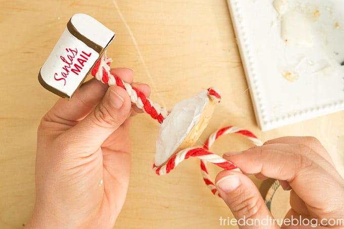 Santa's Mailbox Ornament - Glue