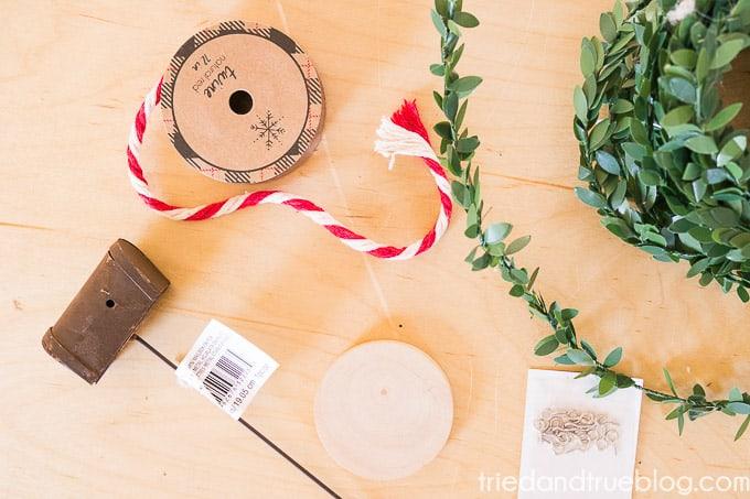 Santa's Mailbox Ornament - Supplies