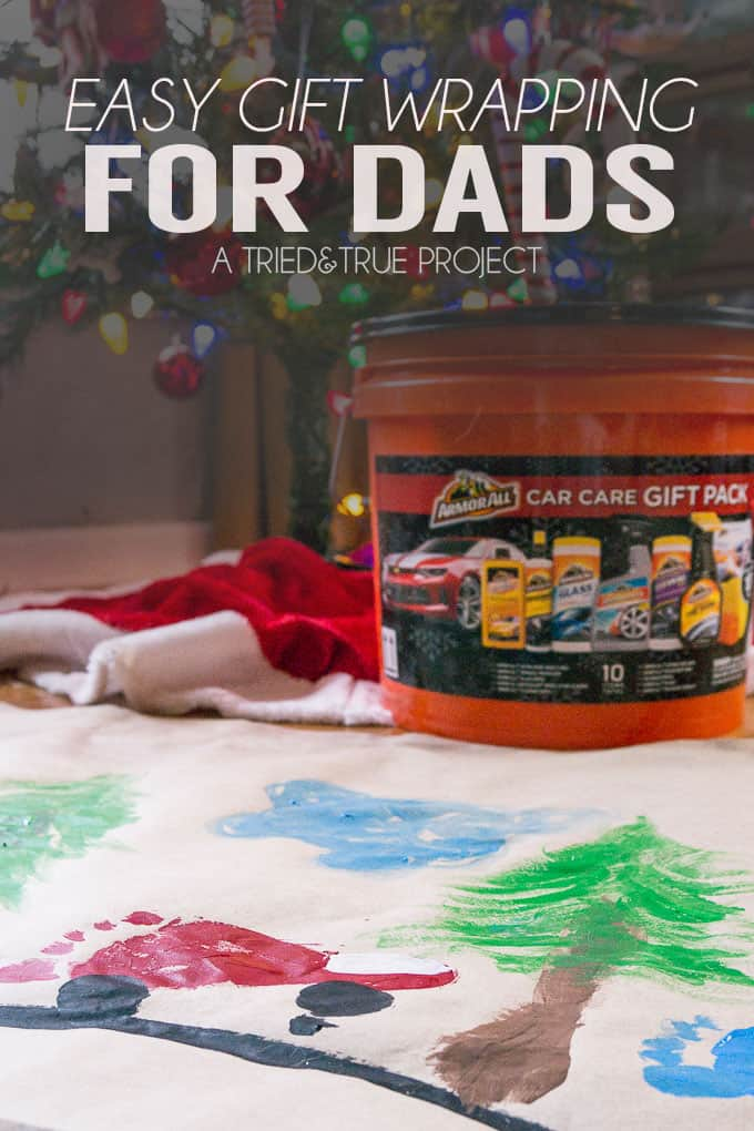Make gifts even more special with this easy gift wrapping for dads!