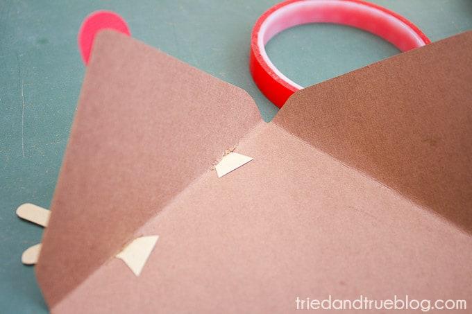 Rudolph Gift Envelope - Antlers
