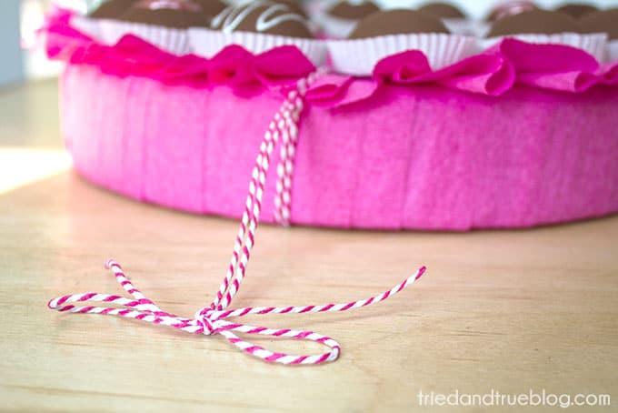 Chocolate Valentine's Day Wreath - String