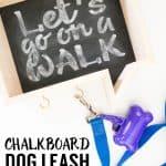 Faux Chalkboard Dog Leash Holder
