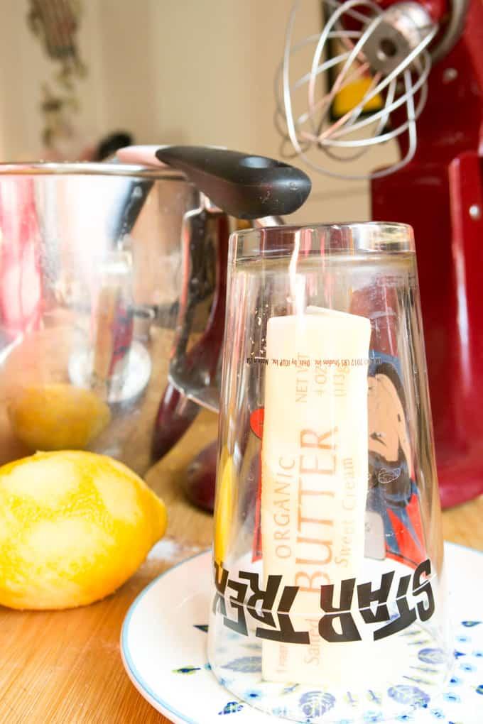 Instant Pot Lemon Blueberry Cake - Butter