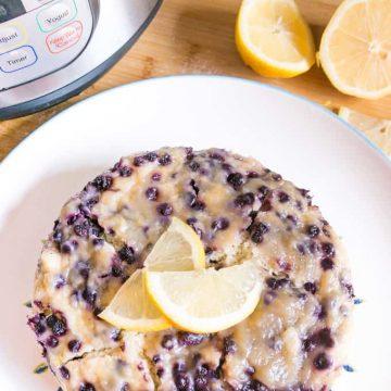 Instant Pot Lemon Blueberry Cake - Eat