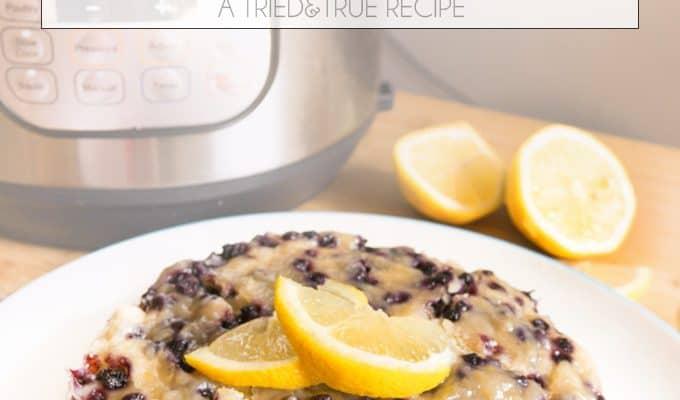 Instant Pot Lemon Blueberry Breakfast Cake