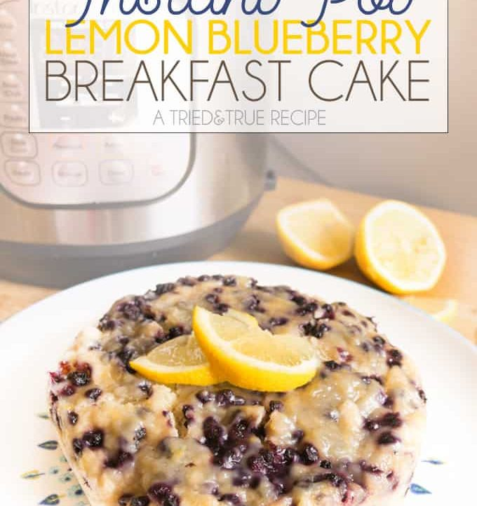 Add this easy Instant Pot Lemon Blueberry Cake to your next breakfast or brunch!