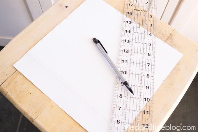 Metallic Checkerboard Side Table - Template