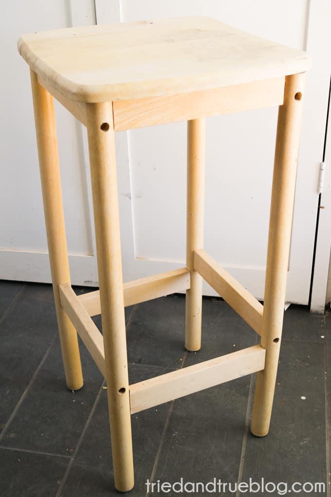 Metallic Checkerboard Side Table - Original
