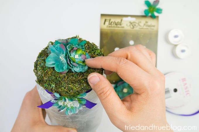 Super Easy Fairy Jar Lantern - Flowers