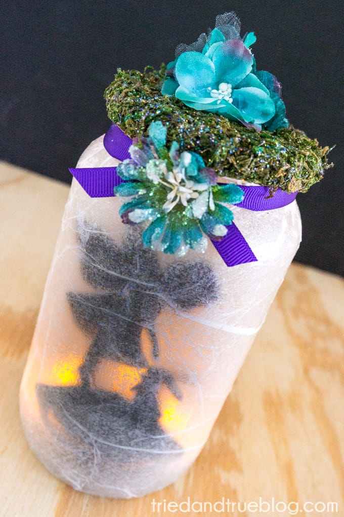 Super Easy Fairy Jar Lantern - Finished