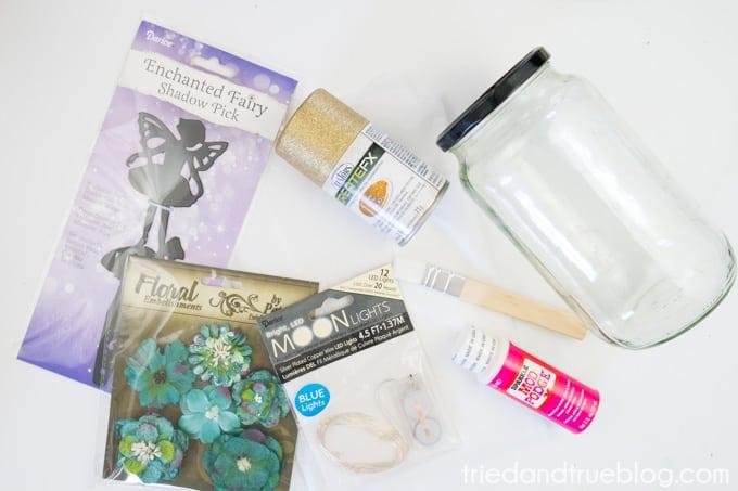 Super Easy Fairy Jar Lantern - Supplies