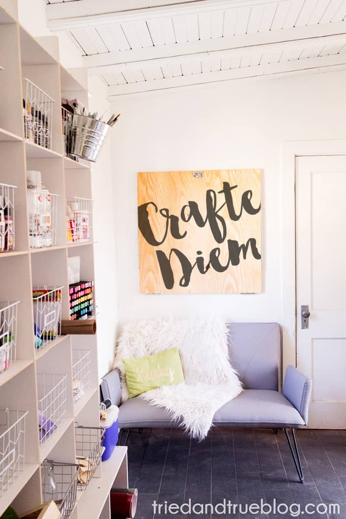Organizing The Craft Cottage - Staging Mockup