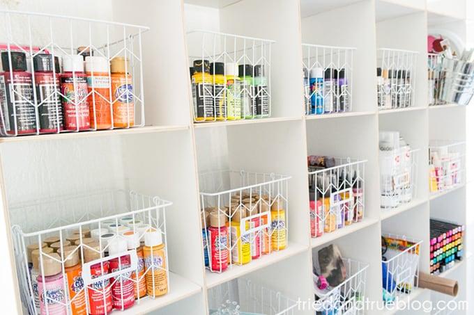 Organizing The Craft Cottage - Paint