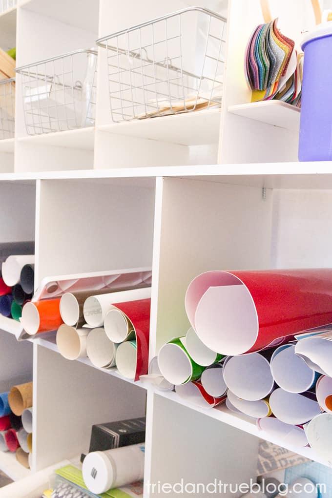 Organizing The Craft Cottage - Vinyl