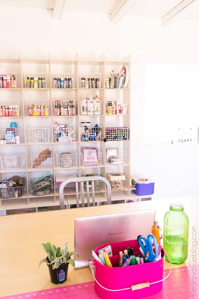 Organizing The Craft Cottage - Shelves