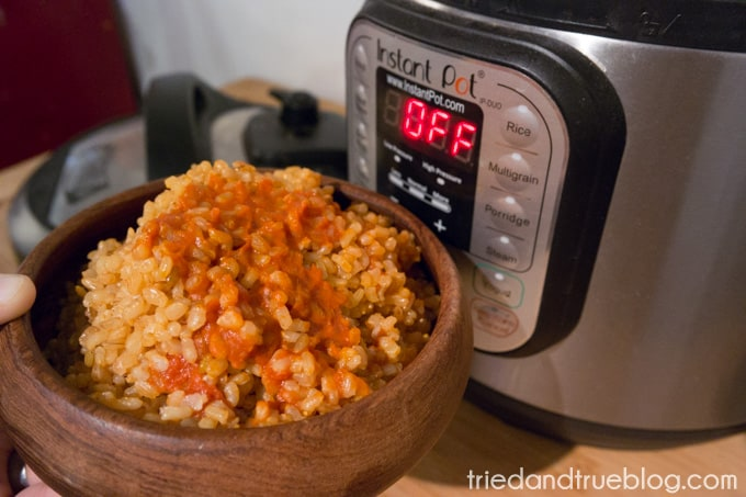 Instant Pot Spanish Rice - Time To Eat!