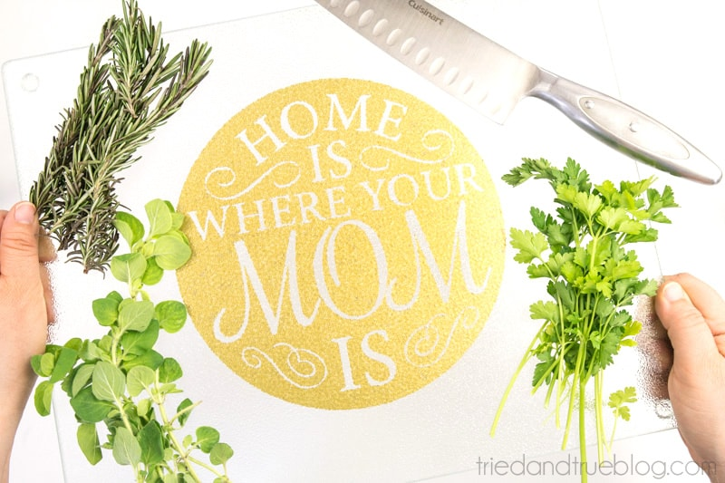 Mother's Day Cutting Board Free File - Use