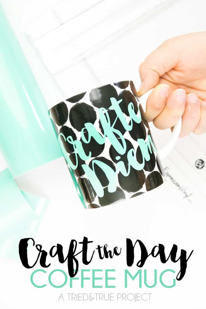 """Make this """"Crafte Diem"""" Perfect Crafter's Mug for you or a friend!"""