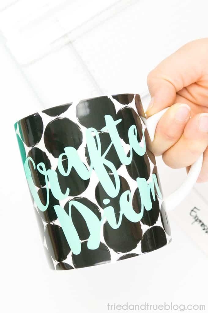 """Crafte Diem"" Perfect Crafter's Mug - Use"