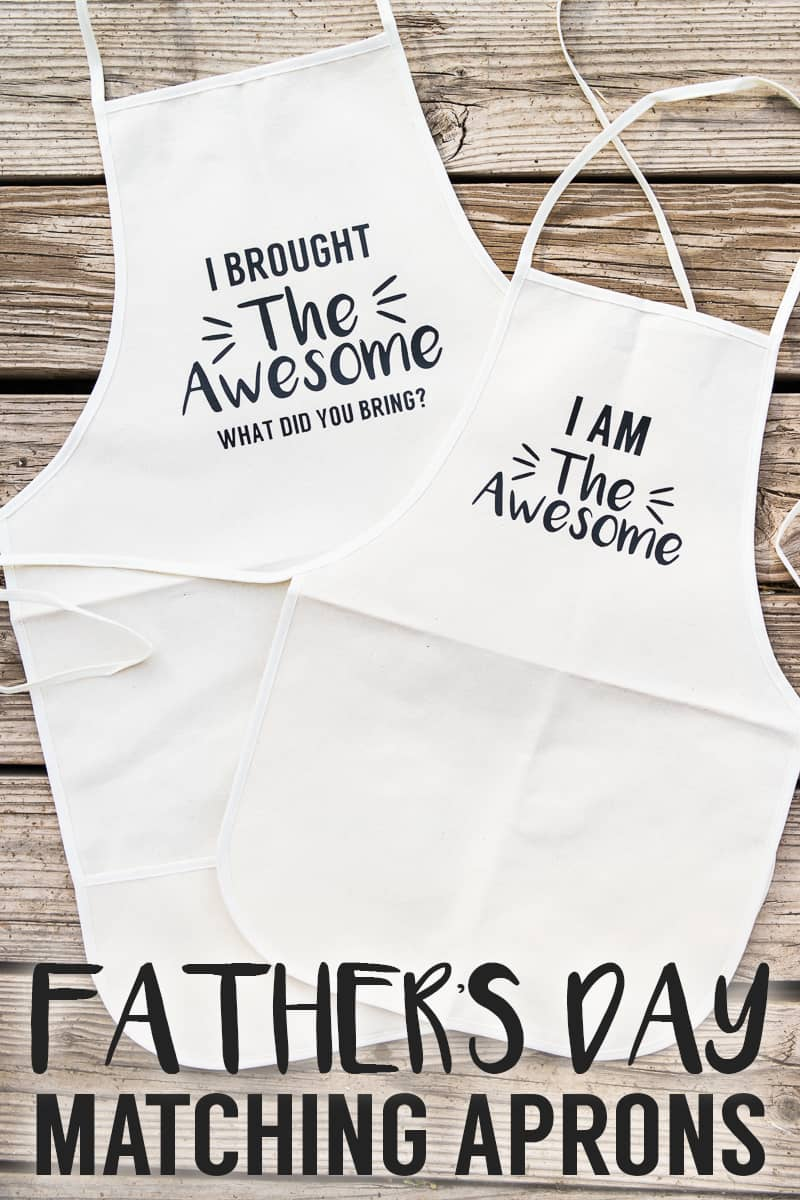 Make this adorable Father's Day Matching Apron Set!