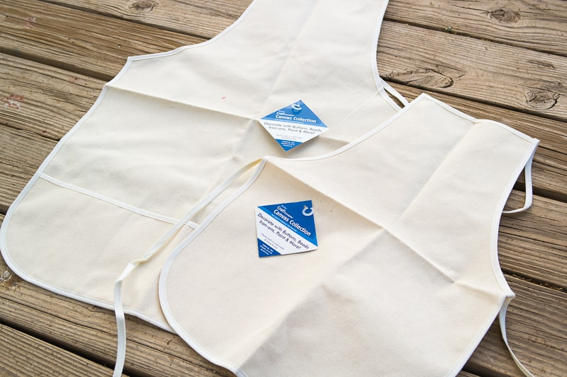Father's Day Matching Apron Set - Blank Aprons