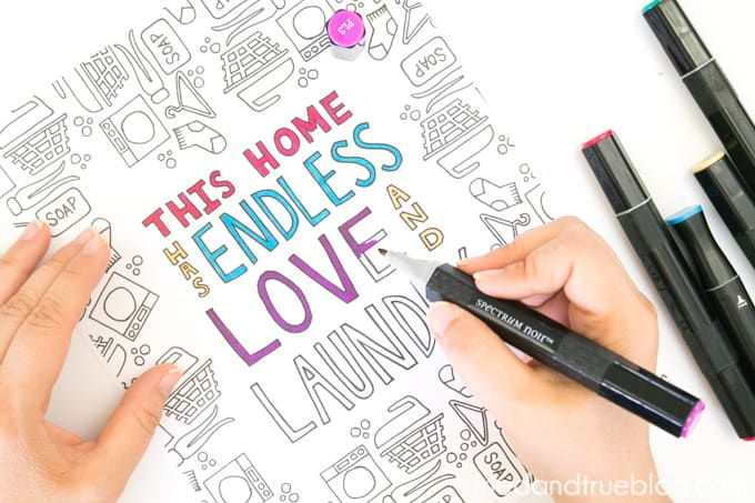 Love and Laundry Coloring - Add Color