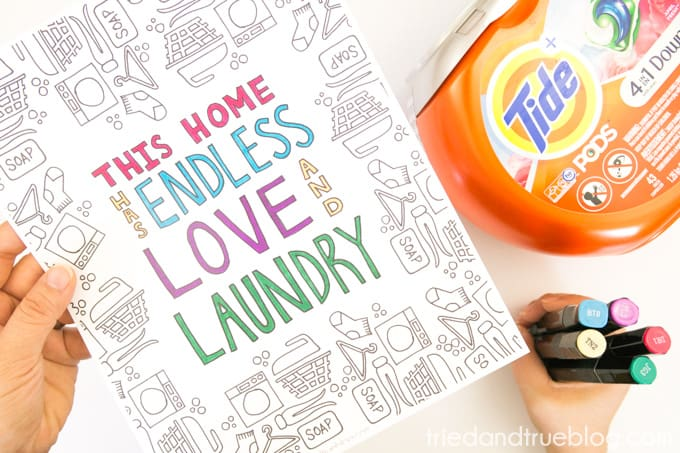 Love and Laundry Coloring - Color
