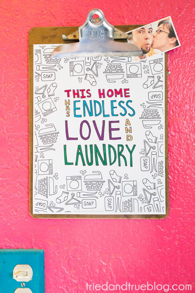 Love and Laundry Coloring