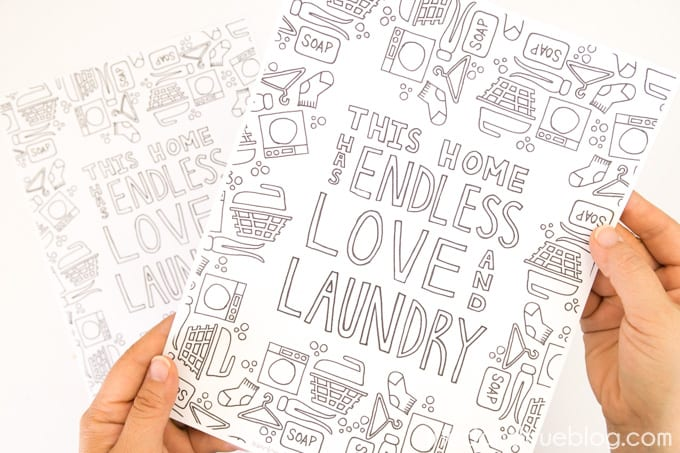 Love and Laundry Coloring - Free Printable