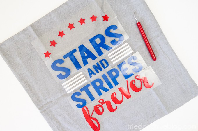 Stars and Stripes Pillow Free Cutting File - Place