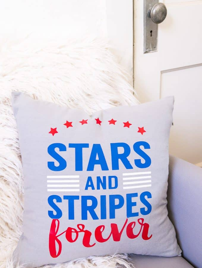 4th of July Stars and Stripes Pillow Free Cutting File
