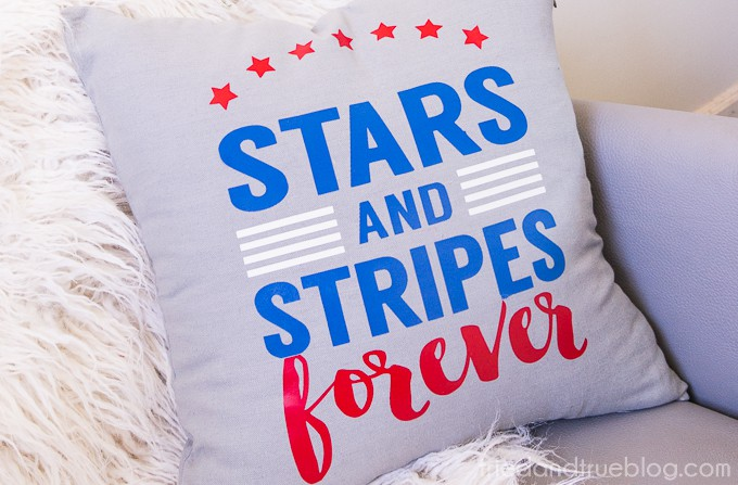 Stars and Stripes Pillow Free Cutting File - Close
