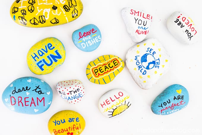 Kindness Rocks Project with Kids! - Examples