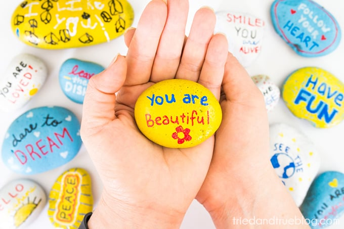Kindness Rocks Project with Kids! - Give