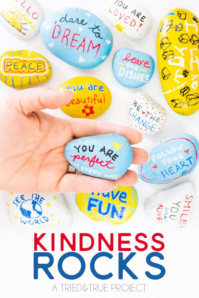 Participate in the Kindness Rocks Project with Kids!