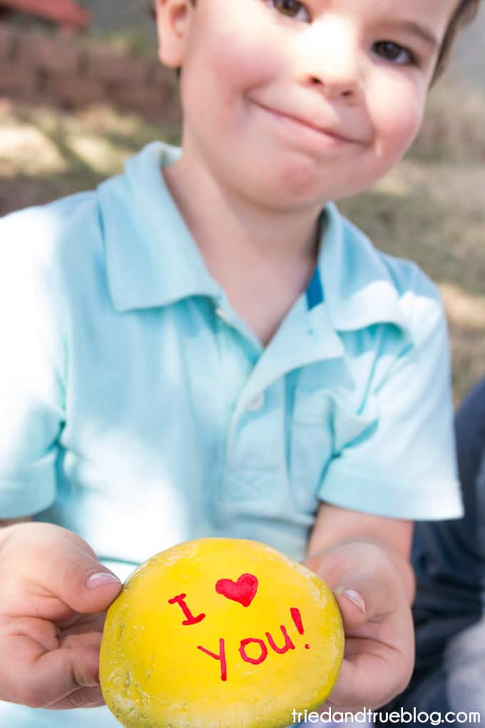 Kindness Rocks Project with Kids! - Proud