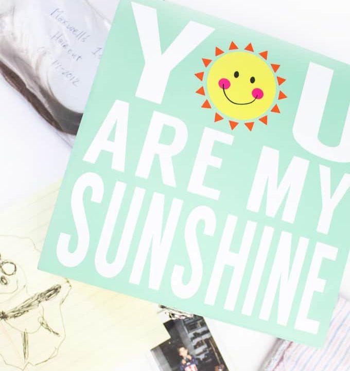 My Sunshine Memory Box - Great for kids!