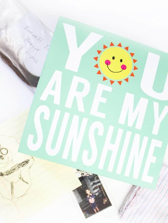 My Sunshine Memory Box with Free Cricut File
