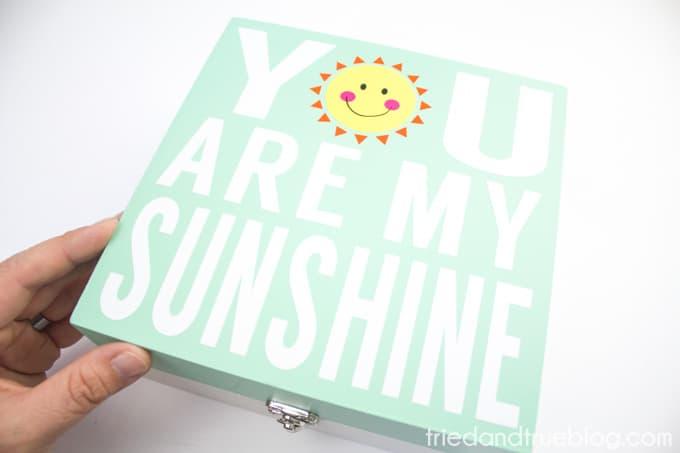 My Sunshine Memory Box - Done