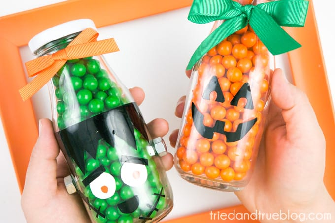 Easy Halloween Gift Candy Bottles - Give