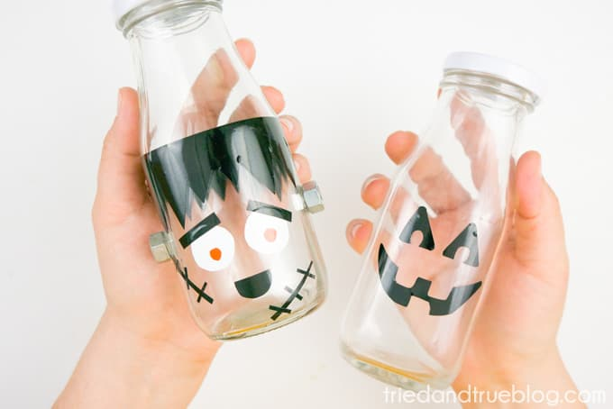 Easy Halloween Gift Candy Bottles - Done!
