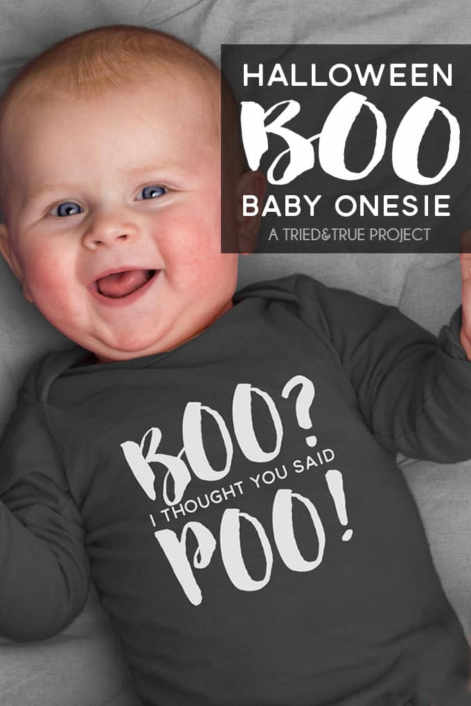 Halloween Boo Onesie Free File