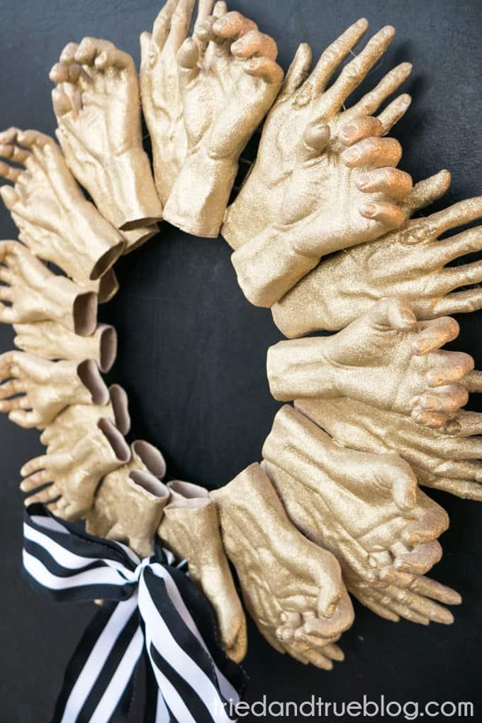 Zombie Hands Halloween Wreath - Spooky