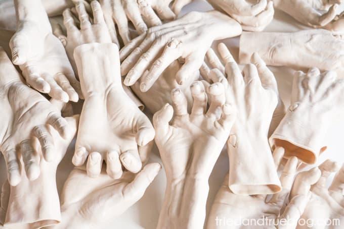 Zombie Hands Halloween Wreath - Hands
