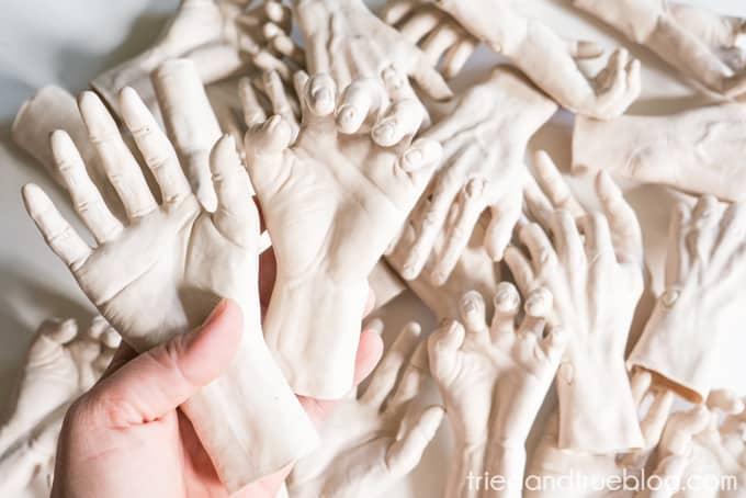 Zombie Hands Halloween Wreath - Size