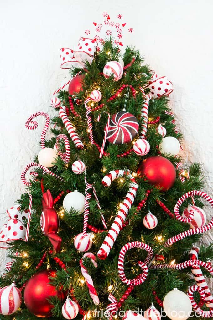 Candy Cane Space Saving Christmas Tree - Tried & True