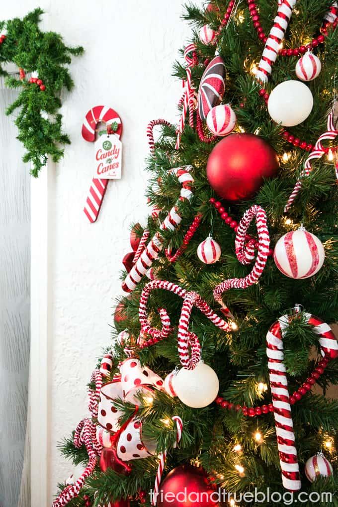 Candy Cane Space Saving Christmas Tree Tried Amp True
